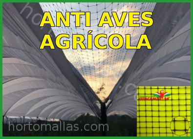Malla control de aves y pajaros en agricultura
