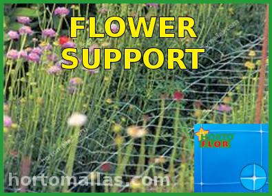 Flower support and tutoring scrog sog netting
