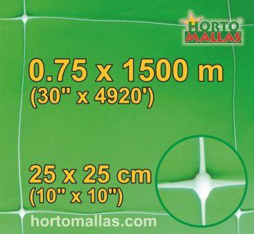 hm square 25x25cm 0.75×1500m