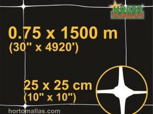 hm square 25x25cm 0.75×1500m black