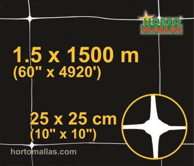 hm square 25x25cm 1.5×1500m black