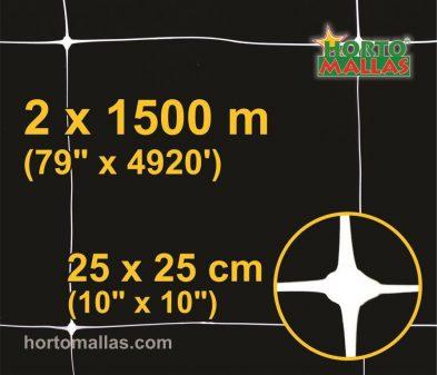 hm square 25x25cm 2×1500m black
