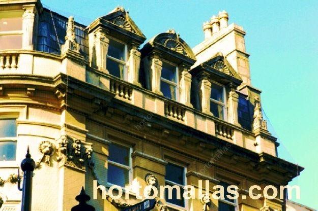 Malla Anti-Palomas GUACAMALLAS® protegiendo ventanas de dormitorios en edificio antiguo