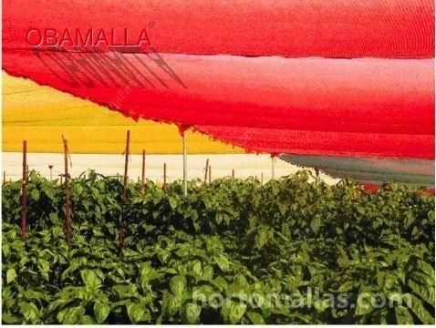 Malla sombra rojo y amarillo
