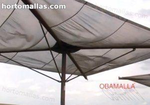 A Malha/Rede de Sombra OBAMALLA® ajuda a reduzir a intensidade da luz solar.