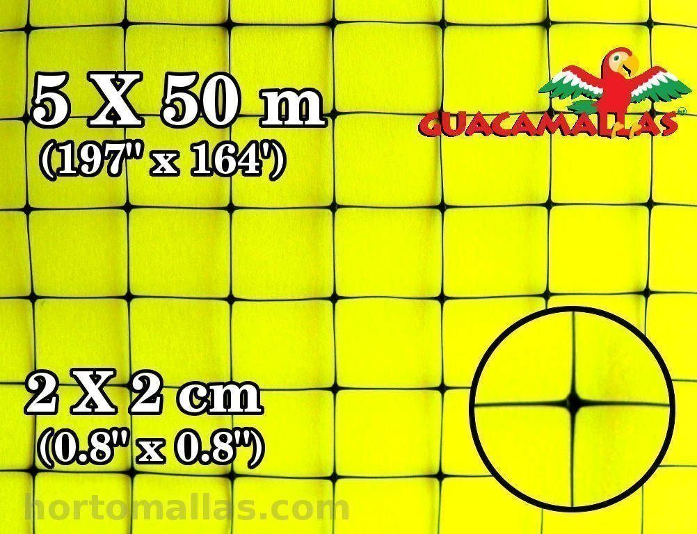 GUACAMALLAS Bird Netting Roll (Square 2x2cm) 5x50 meters (197