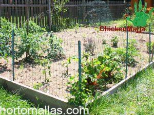 Jardin con malla gallinera