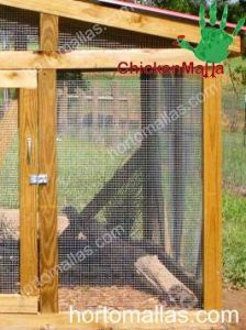 Gallinero con malla para aves de corral