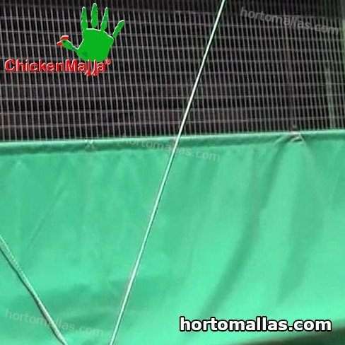 chickenmalla installed for chicken coop