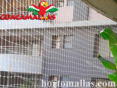 Instalação da malha/rede anti-pássaros em um edifício