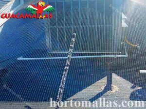 angtibird netting barrier on a rooftop and terrace