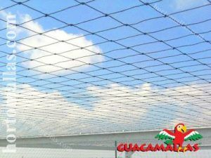 Well tensioned bird barrier netting installed on a rooftop