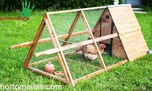 tractor casero triangular de madera