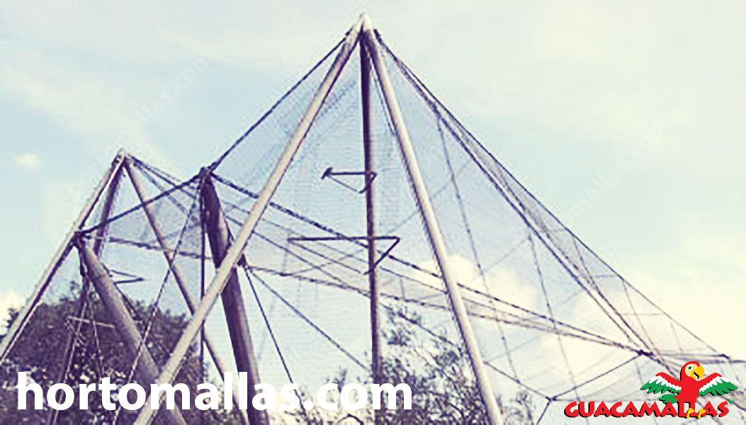 Aviário com uso de malha/rede anti-aves GUACAMALLAS