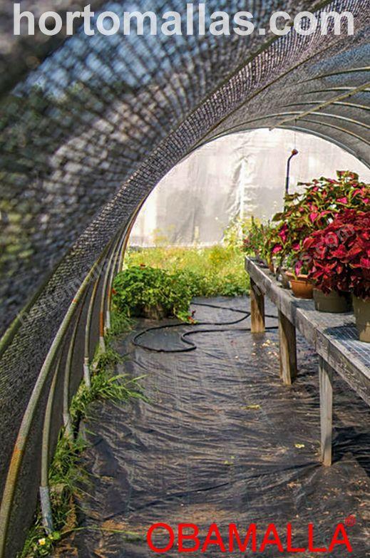 Um dos usos da casa de sombra é proporcionar uma área segura aos jardins e vasos de flores.