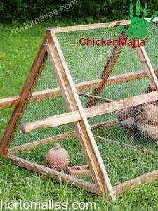 gallinero con protección de malla gallinera