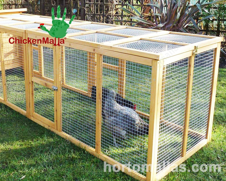 A malha/rede galinheira é resistente ao pH dos excrementos dos animais de fazenda.