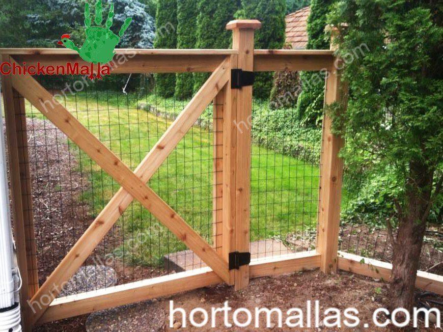 Podem ser criadas portas ou delimitar áreas com a protecção da malha/rede galinheira-CHICKENMALLAS.