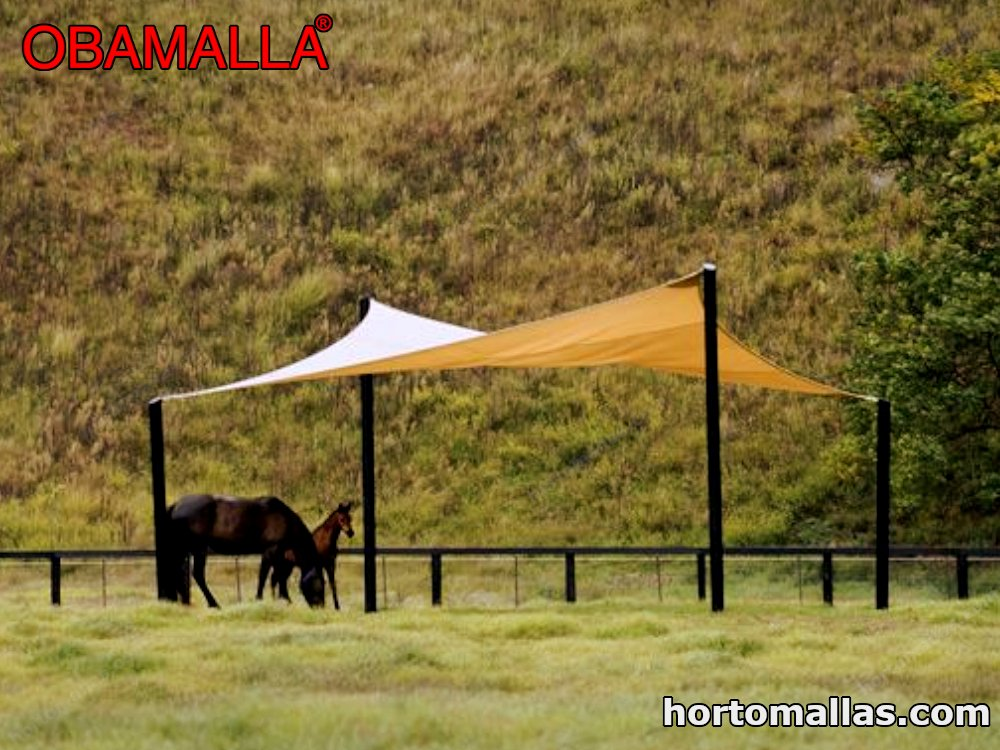 Obamalla installed for animals to protect themselves from the sun