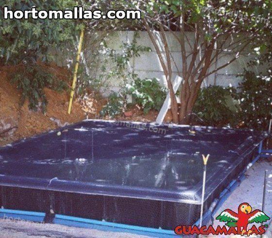 Rete di protezione per laghetti artificiali hortomallas for Vasca per stagno