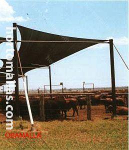 malla sombreadora para ganadería