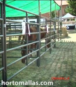 livestock corrals under shade netting