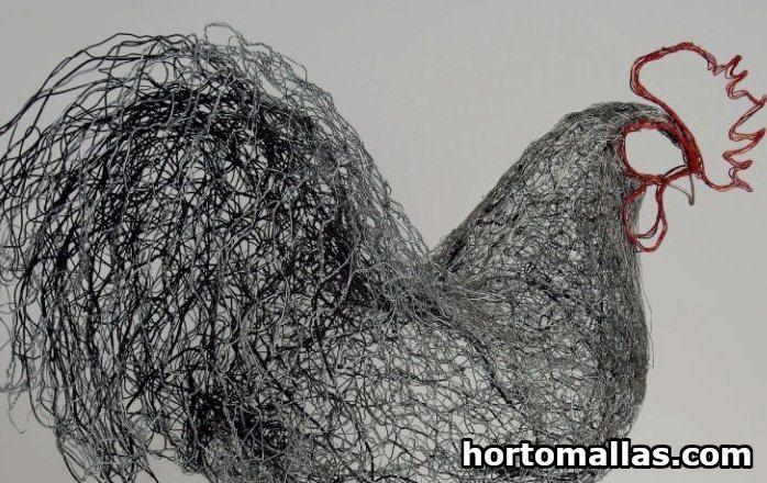 Being artistic with chicken wire art