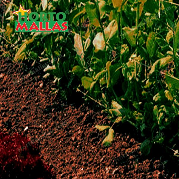 A comparación de la Rafia Agrícola , la malla para entutorar no necesita de demasiada mano de obra.