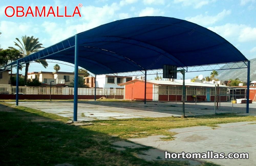 Malla de sombreo en patios escolares