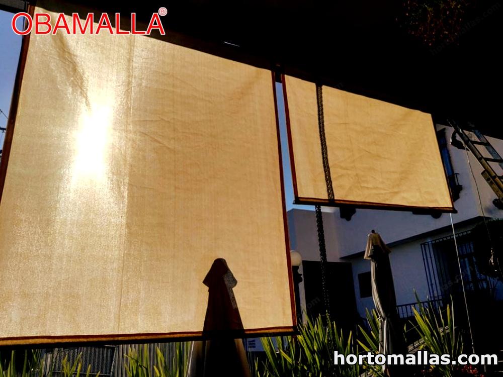 malla de sombreado cortina vertical