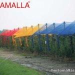 Malla de colores para cultivos