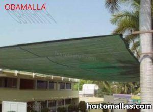 malla sombra verde usada en escuela