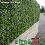muro vertical instalado en exterior
