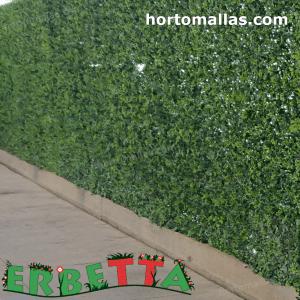 jardin artificial instalado en muro.
