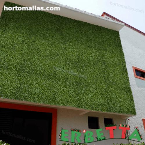 jardin vertical artficial instalado en hogar para decoración