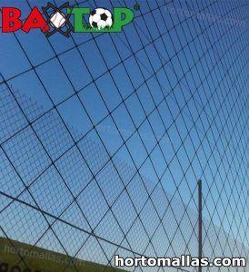 red baxtop instalada en campo deportivo