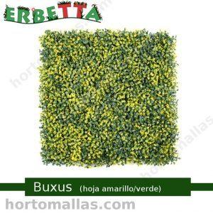 erbetta buxus hoja amarillo verde arbustos sintéticos