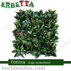 erbetta fotinia hoja verde tinto plantas artificiales decorativas