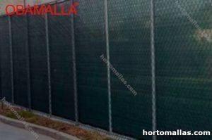 Malla sombra instalada en cancha de  futbol