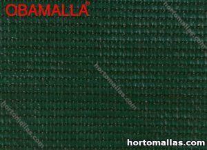 Muestra de malla sombra verde