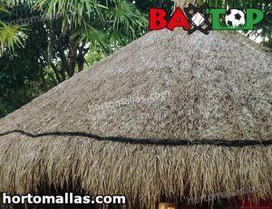 palapas instaladas en playas con red baxtop