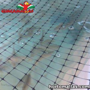malla anti pajaros usada para proteger estanques