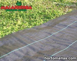 tela mala hierba colocada sobre pasto de jardin