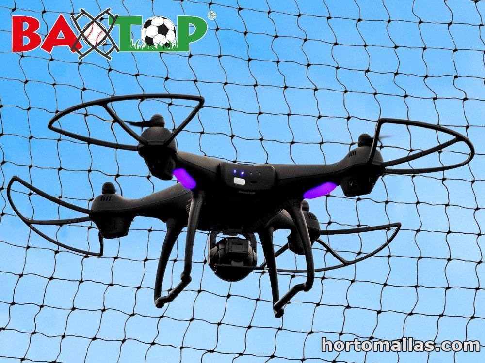 Malla de protección para drones y aeromodelismo.