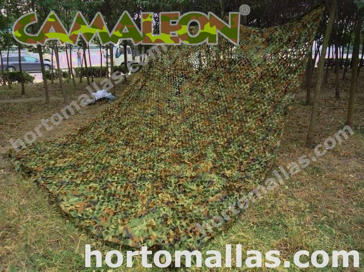 red de camuflaje selva extendida