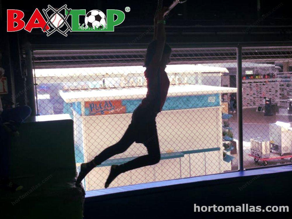 malla de seguridad para trampolines
