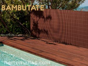 BAMBUTATE® Synthetic Bamboo Reed Fence