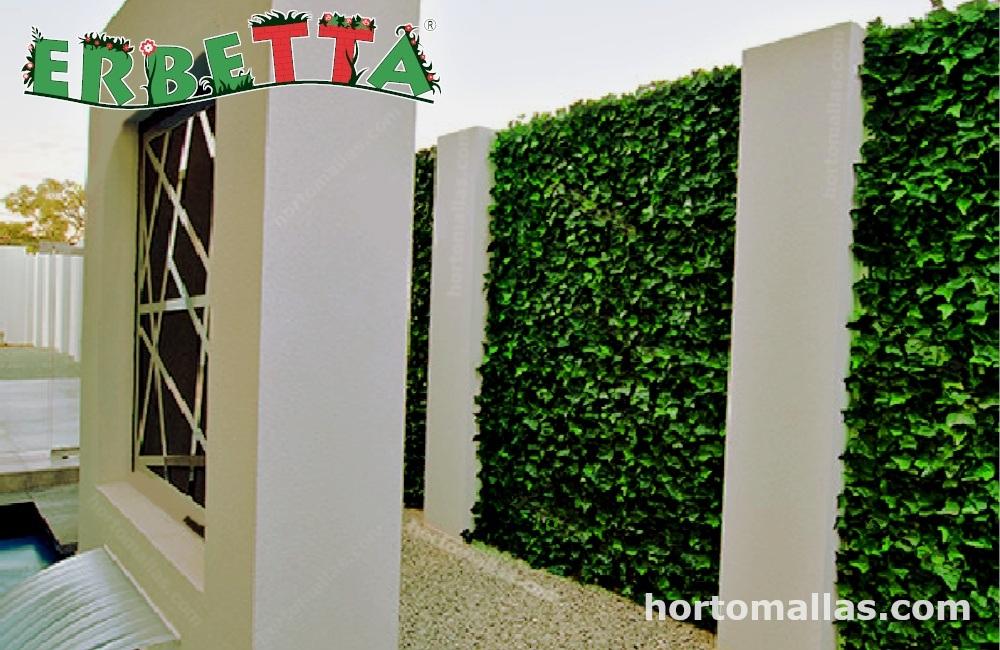 Muro verde artificial son agradables a la vista.