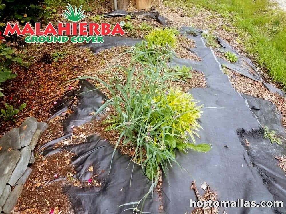 MALAHIERBA, malha/rede contra a vegetação indesejada.