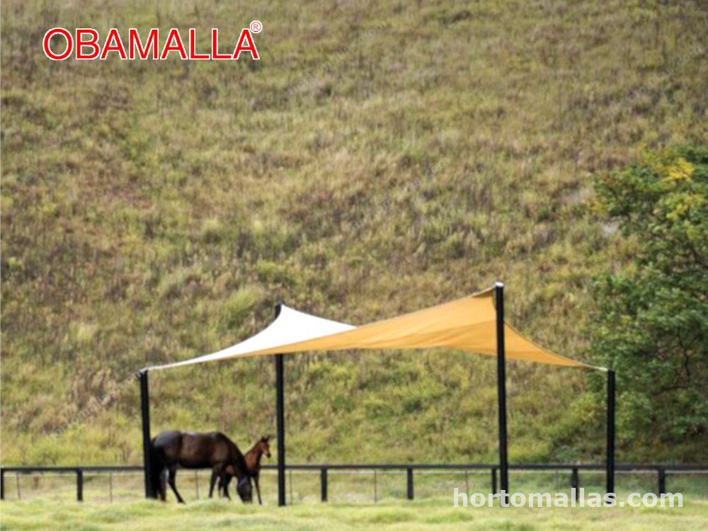 Obamalla instalada para que los animales se resguarden del sol